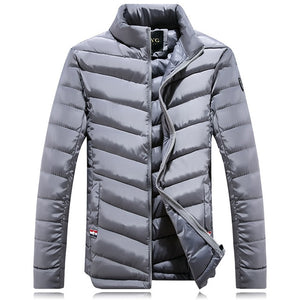 Men's down jacket New Winter parkas Down Coat Men Duck Down Jacket Coats Men Fashi onable stand Thin Warm White Duck Down Jacket-cgabuy