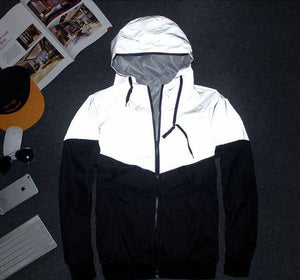 2018 Summer Reflective Jacket Fashion Windbreaker Hip Hop New Brand 3m Jacket Men&Women Casual Hooded S-XXL NSWT121-cgabuy