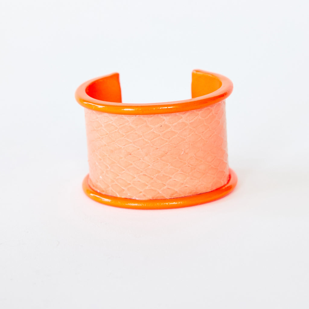 5 cm Inlay Cuff Neon Orange with Sherbet Sea Snake