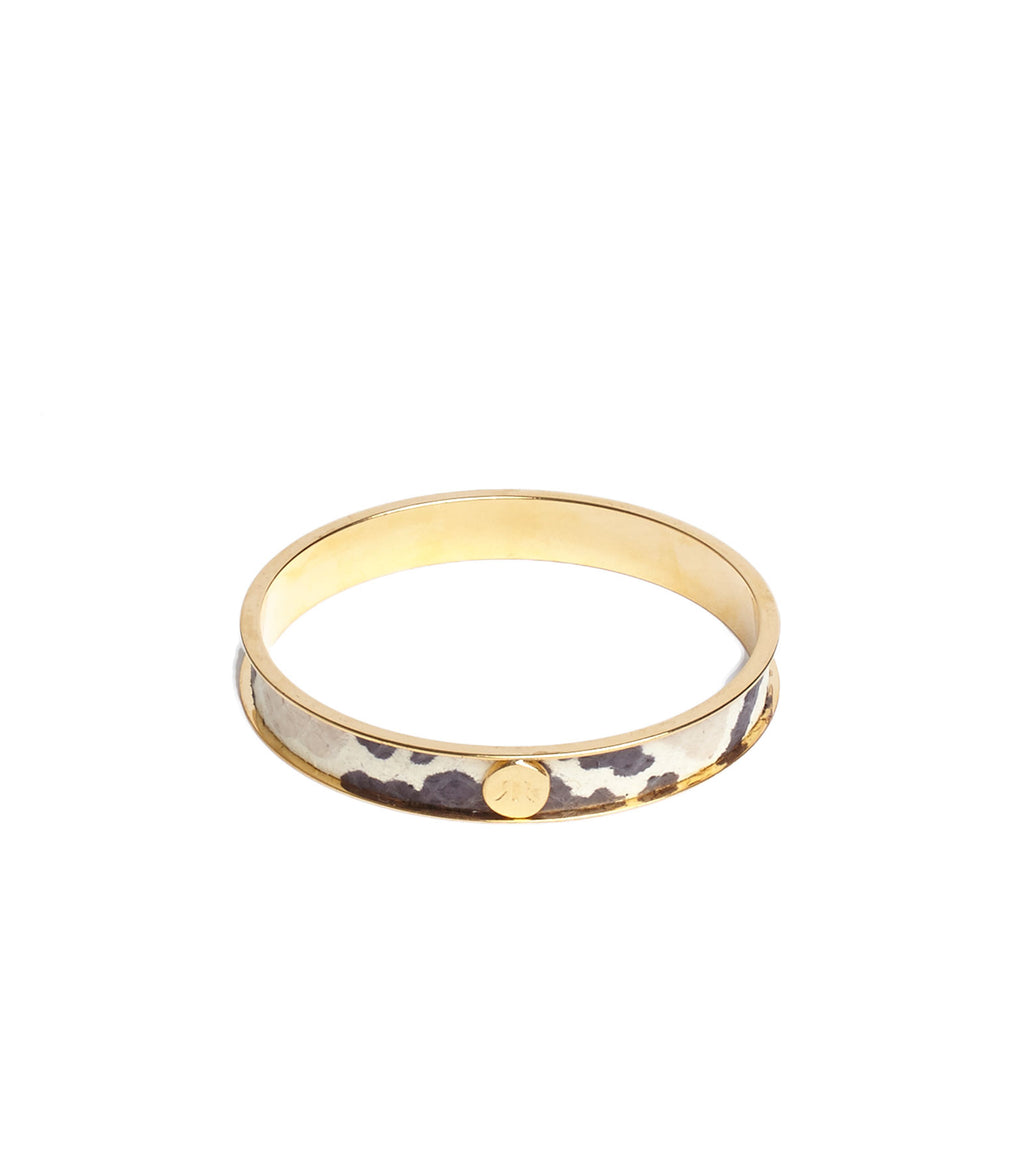 Inlay Python Leather Bangle Bracelet