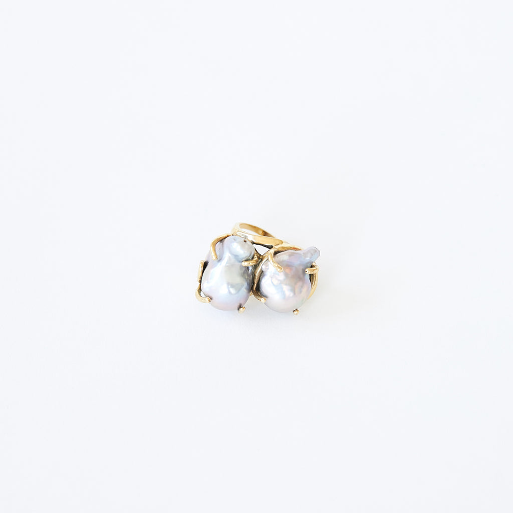 Double Pearl Ring Multi