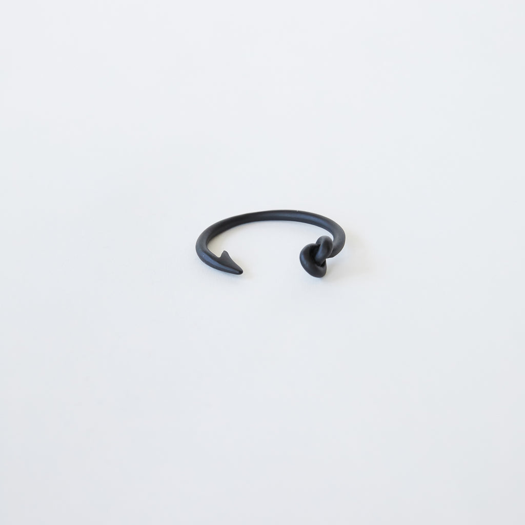 Hook and Knot Bangle in Black