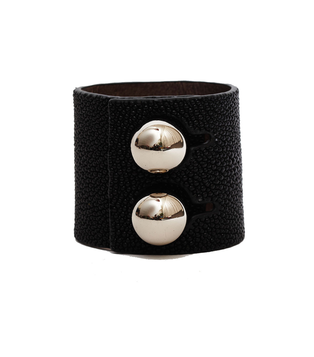 The Eye Black Leather Cuff