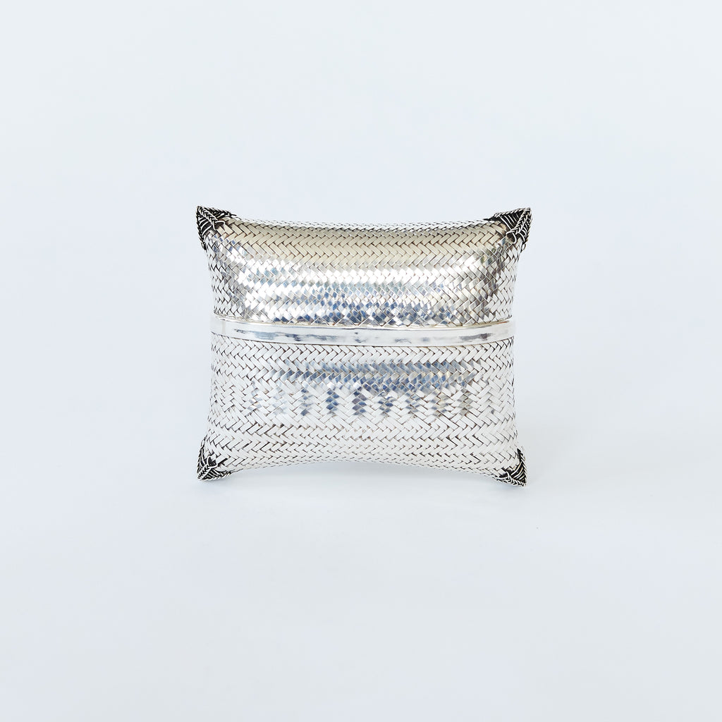 Woven Clutch Silver