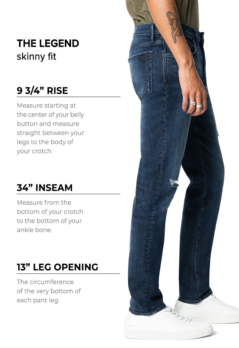 Men S Denim Size Chart And Fit Guide Joe S Jeans