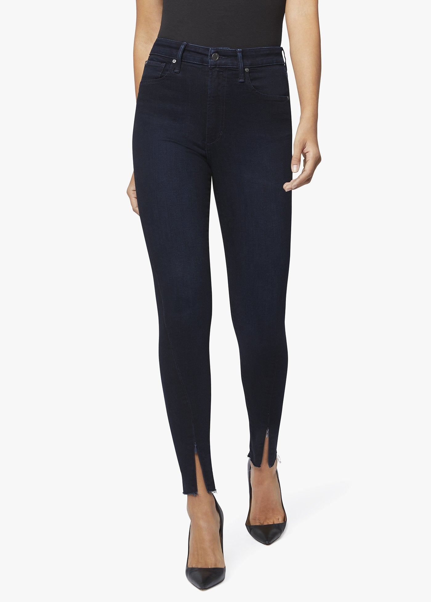 High Rise Skinny Zip