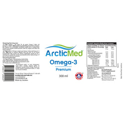 ArcticMed Omega-3 Premium Natural 1-pack - ArcticMed omega-3 high quality fish oil