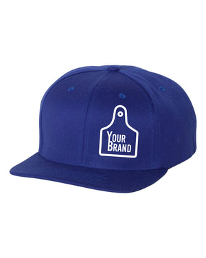 Cow Tag Branded Yupoong Flatbill Hat