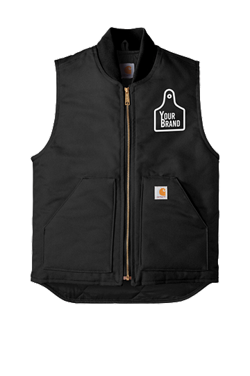 Cow Tag Carhartt Duck Vest