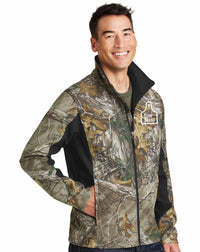 Cow Tag Camouflage Soft Shell Jacket
