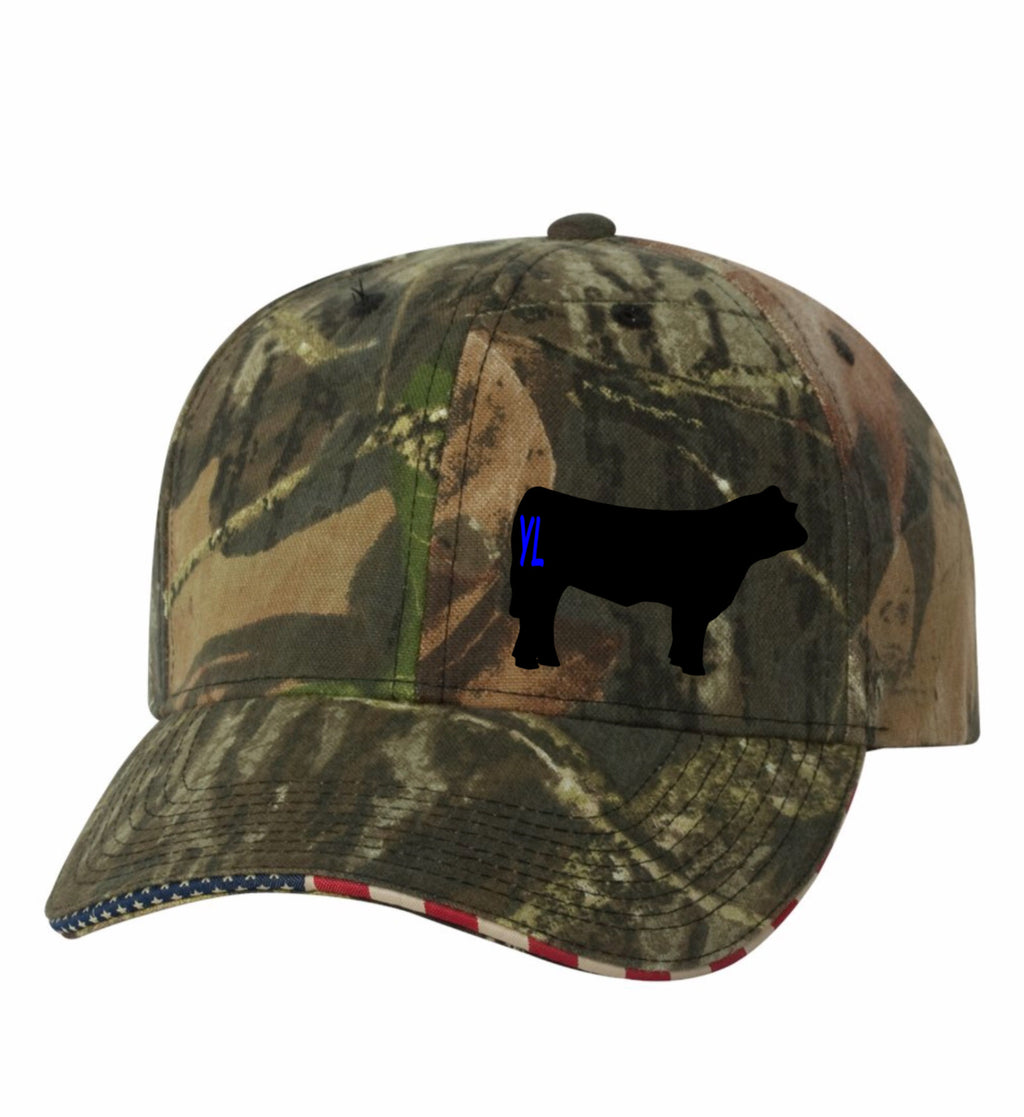 Branded Cow Outdoor Cap USA Visor