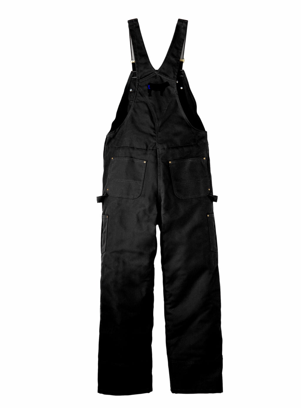 Branded Cow Carhartt Duck Quilt-Lined Zip-To-Thigh Bib Overalls