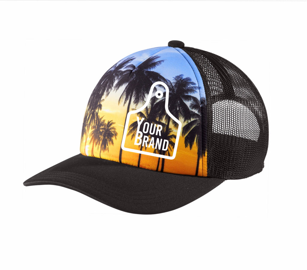 Cow Tag Scenery Trucker Hat