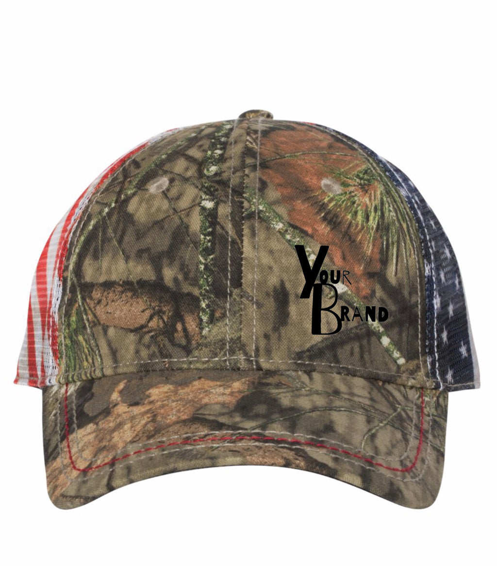 Just Your Brand Outdoor Cap with Flag Mesh