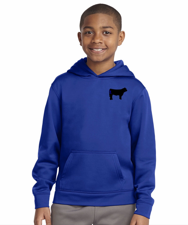 Youth Branded Cow Sport-Wick Hoodie