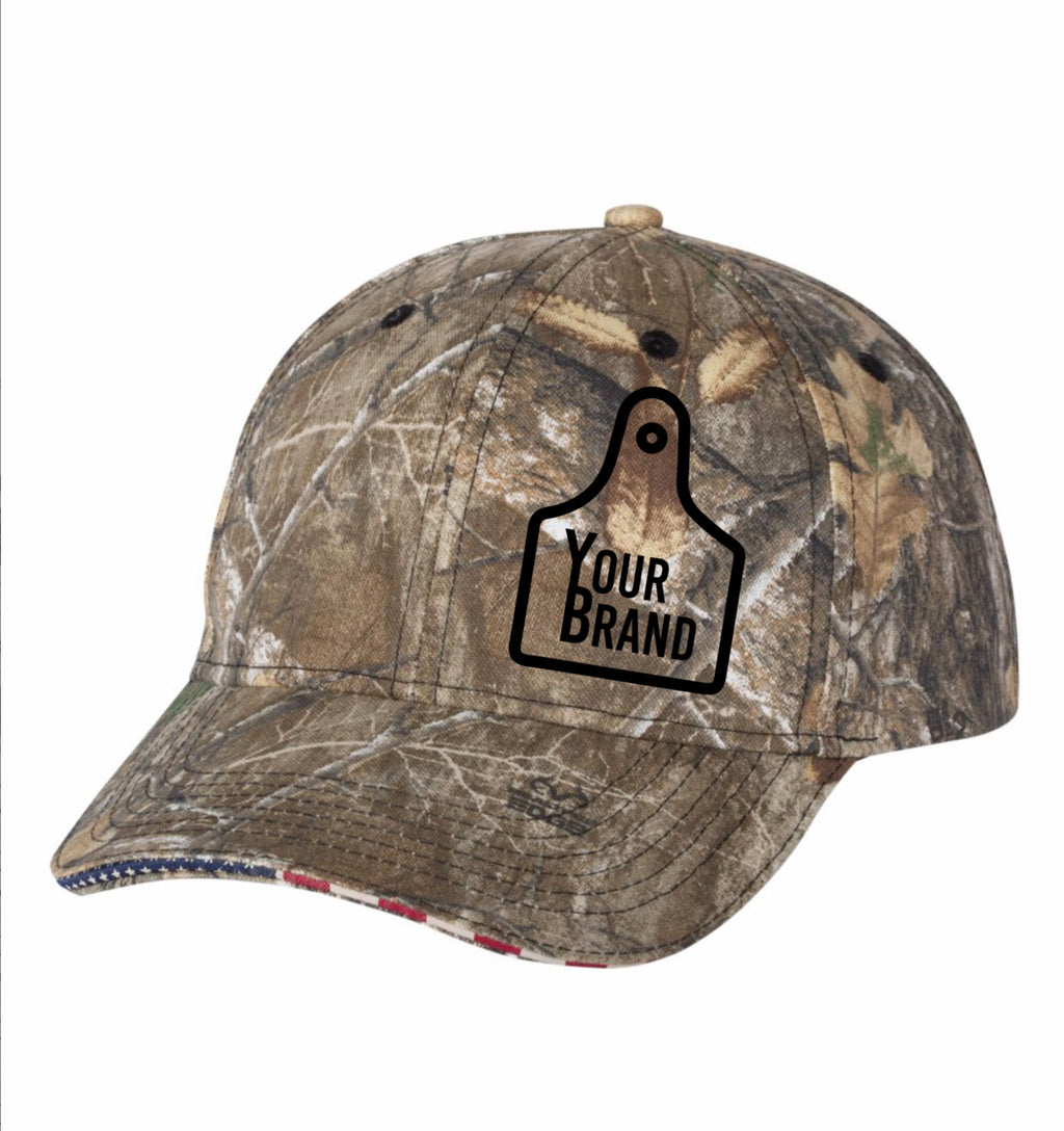 Cow Tag Outdoor Cap USA Visor