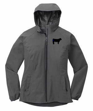 Ladies Branded Cow Essential Rain Jacket