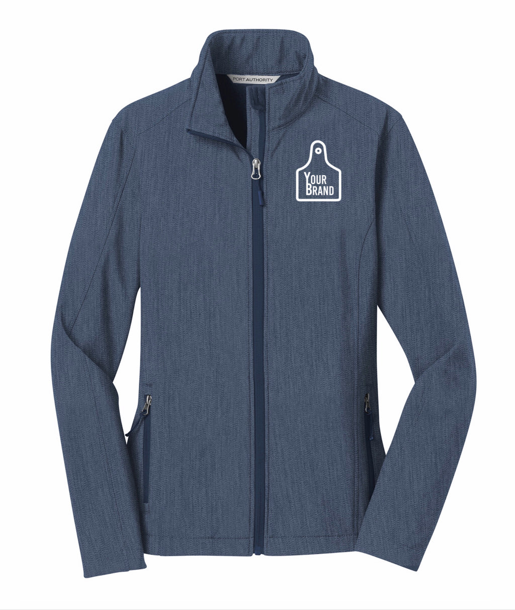 Cow Tag Ladies Core Soft Shell Jacket
