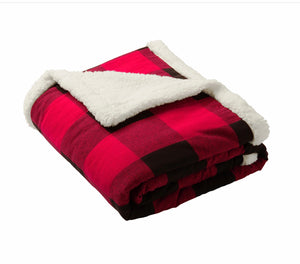 Just the Brand Flannel Sherpa Blanket