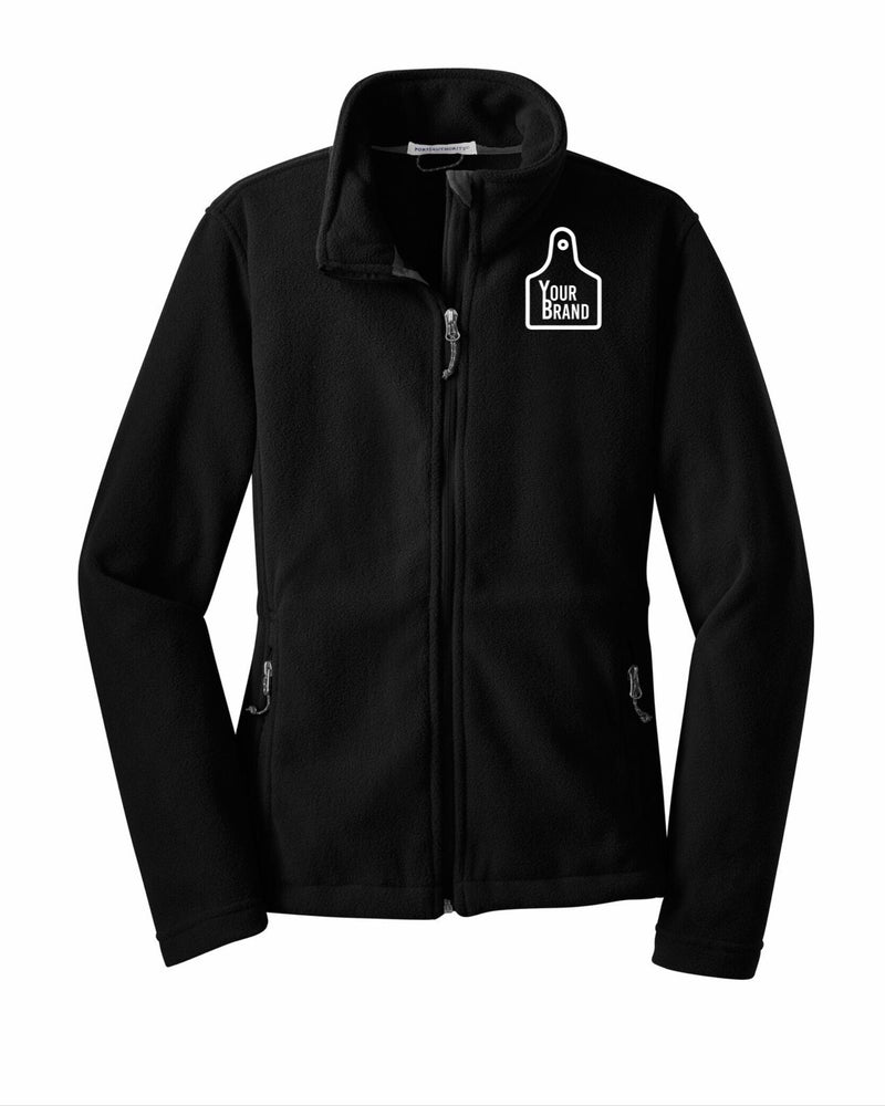 Ladies Cow Tag Fleece Jacket