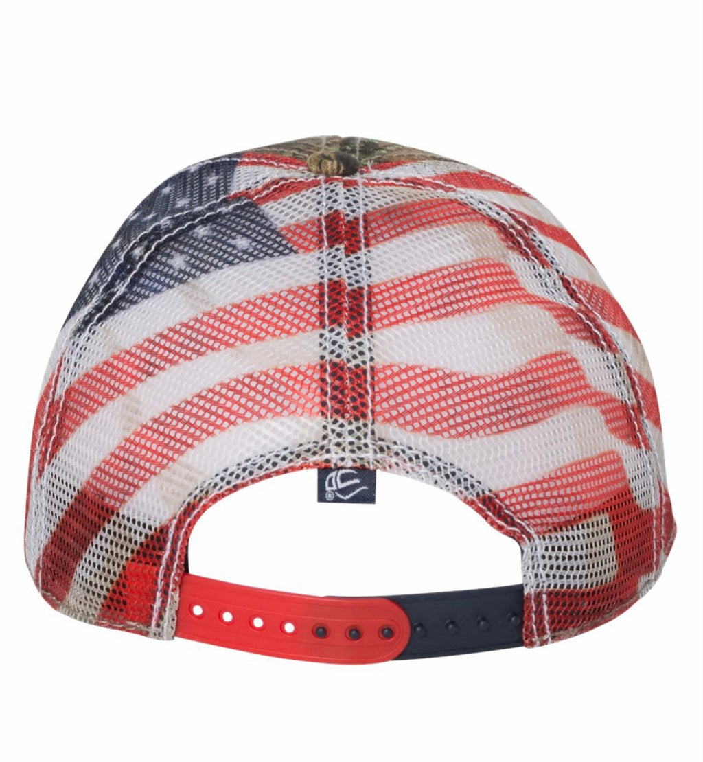 Branded Cow Outdoor Cap with Flag Mesh