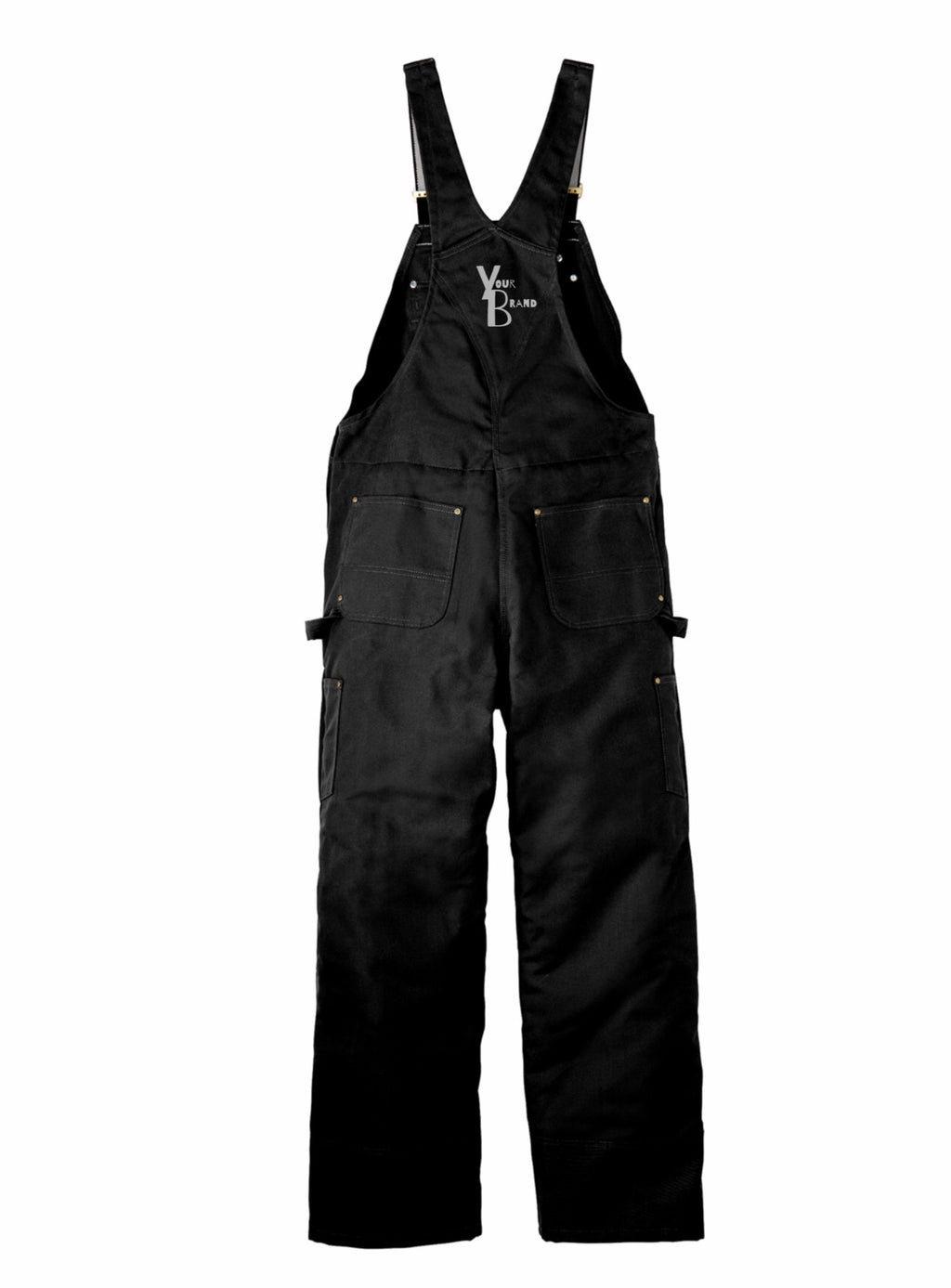 Just Your Brand Carhartt Duck Quilt-Lined Zip-To-Thigh Bib Overalls