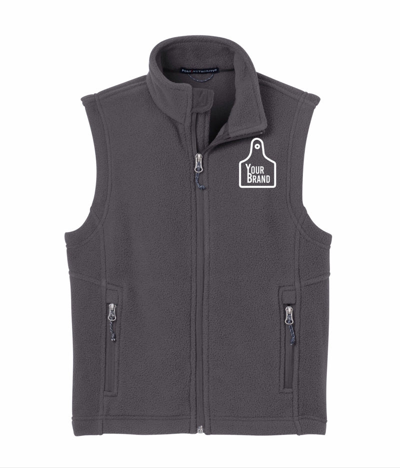 Youth Cow Tag Fleece Vest