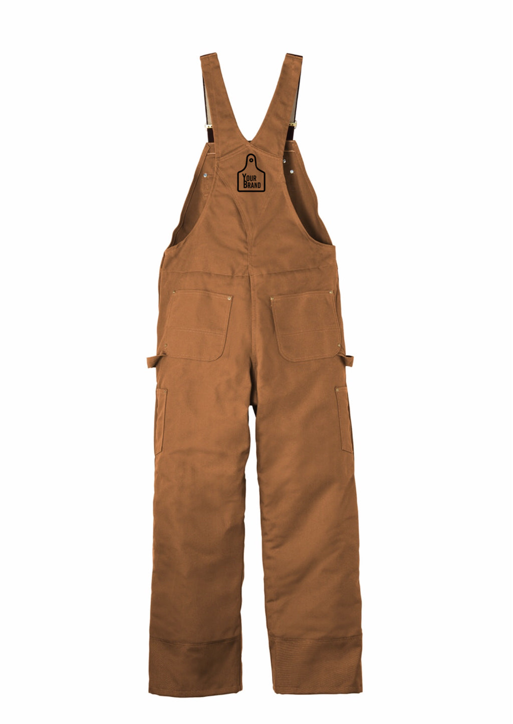 Cow Tag Carhartt Duck Quilt-Lined Zip-To-Thigh Bib Overalls