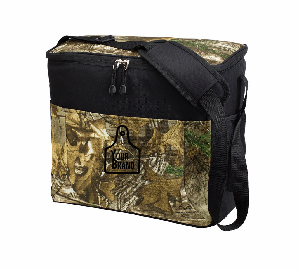 Cow Tag Camo 24 Can Cooler