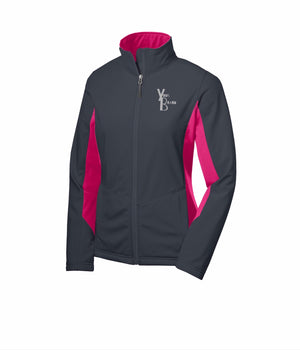Ladies Just the Brand Colorblock SoftShell Jacket