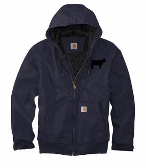 Branded Cow Carhartt Washed Duck Active Jac