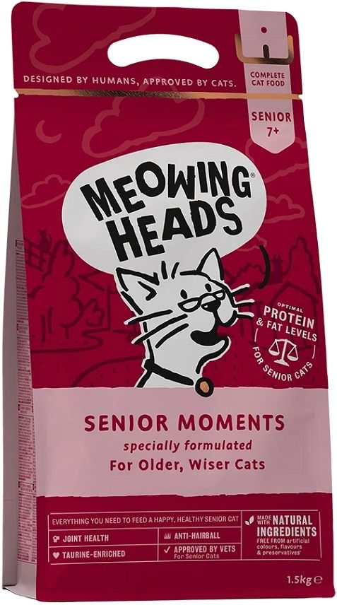 Meowing Heads (MH貓頭)英國老貓乾糧 -  雞肉及魚肉配方 1.5kg (Exp Date: 28Aug2021)