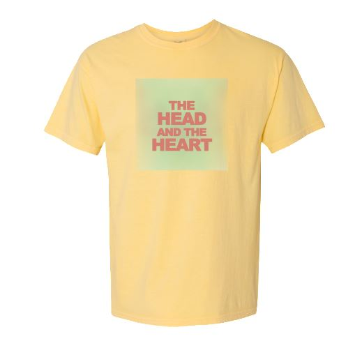 The Head And The Heart yellow logo t-shirt