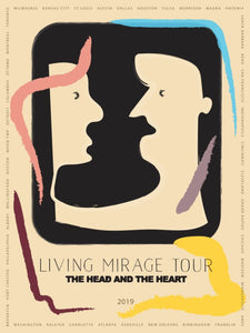 The Head And The Heart 2019 tour poster
