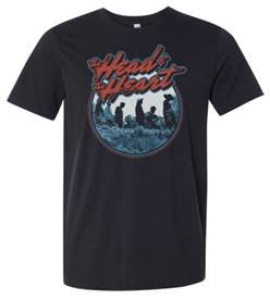 The Head And The Heart black Rock Crest t-shirt