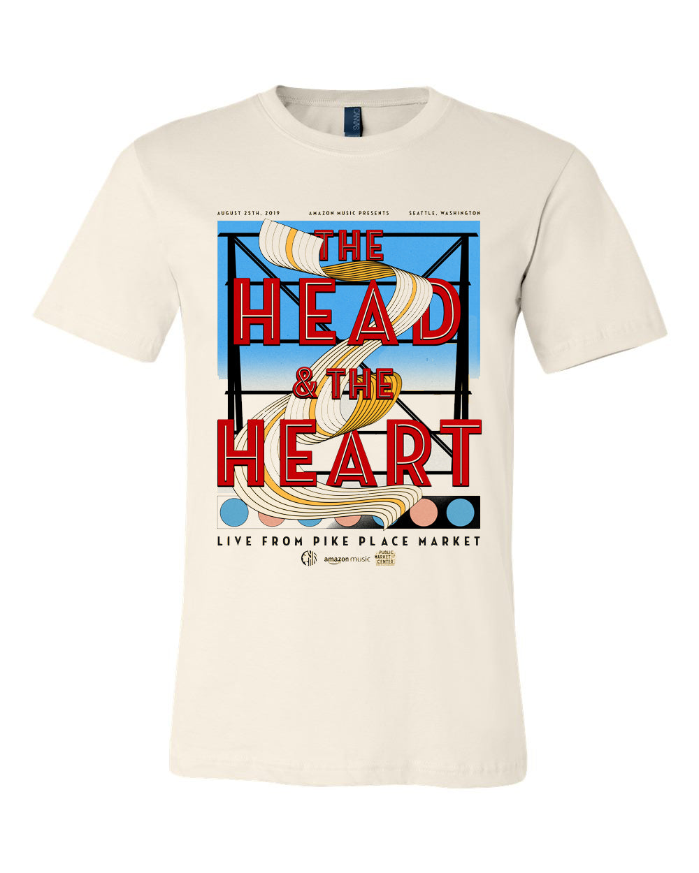 The Head And The Heart live from Pike Place t-shirt