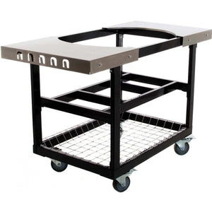 Primo Oval Large Ceramic Kamado Grill On Steel Cart With Stainless Side Tables $1,777.00