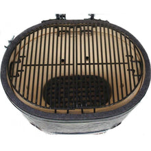 Load image into Gallery viewer, Primo Oval XL Ceramic Kamado Grill On Steel Cart With Stainless Side Tables $2,077.00