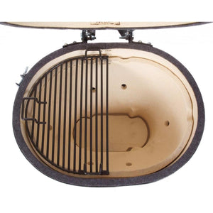 Primo All-In-One Oval Junior Ceramic Kamado Grill With Cradle & Side Shelves $1,347.00