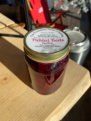 Pretentious Pickles Pickled Beets 16oz, Hand Crafted in Plymouth MA