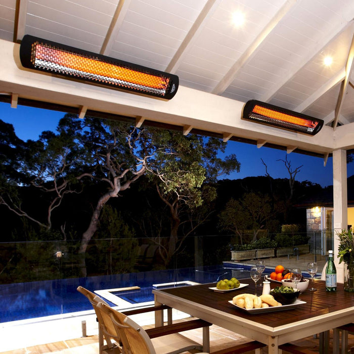 Bromic Heating Tungsten Smart-Heat 44-Inch 4000W Dual Element 240V Electric Infrared Patio Heater - Black - BH0420032 (Order NOW for Spring 2021!)