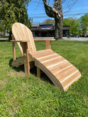 Adirondack Chair Lounger Footrest Cedar $197.97