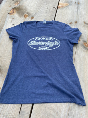 Swankys Logo T Shirt Blue Mens
