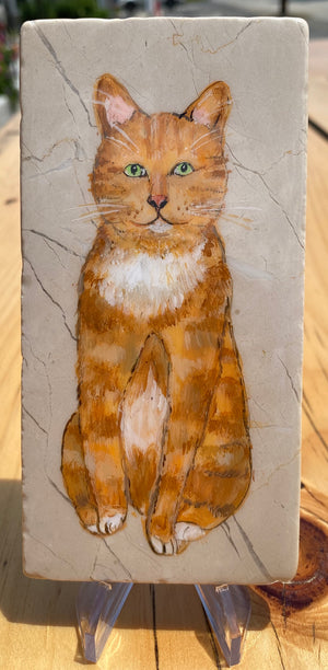 "Seriously Whimsicial Art Dogs and Cats Tile Paintings 3-6"" (Assorted Animals)"
