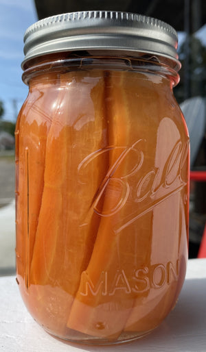 Pretensions Pickles Pickled Carrots 16oz- Hand Crafted in Plymouth MA