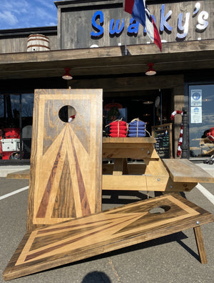 "Veteran Hand Crafted Corn Hole Boards ""FREE SET OF BAGS!"""