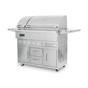 Louisiana Grills Estate Series 860 sq in 304 Stainless Steel Pellet Grill w/ Full Lower Cabinet- LG ESTATE 860C- Order Now!