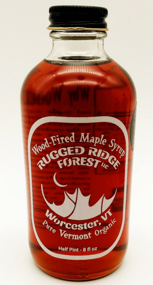 Rugged Ridge Forest Half Pint of Maple Syrup - Wood-Fired And Organic
