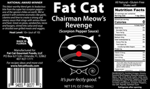 Load image into Gallery viewer, Fat Cat CHAIRMAN MEOW'S REVENGE: SCORPION PEPPER SAUCE