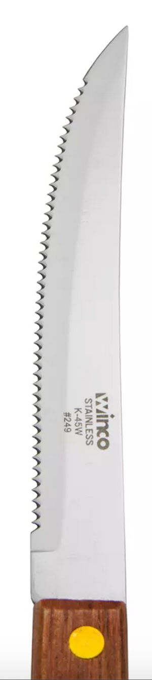 Winco Stainless Steel Steak Knives (Set of 6)